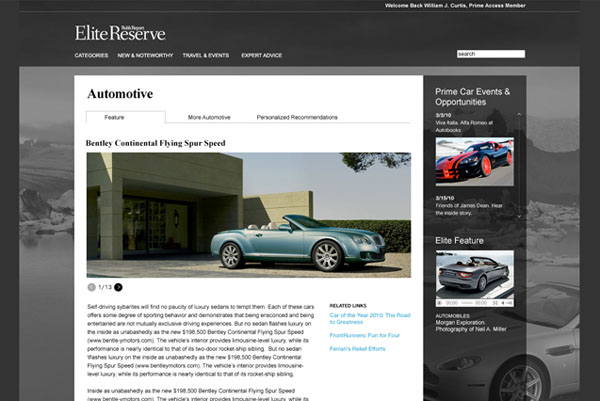 Robb Report - Elite Reserve