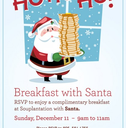 Pancakes with Mr. Kringle.