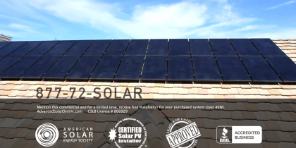 Solar goes commercial.